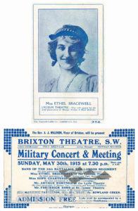 BRIXTON THEATRE, BRIXTON CENTRAL : ADVERTISEMENT CARD