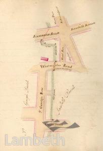 LAMBETH PARISH BOUNDARY, WATERLOO TO LAMBETH