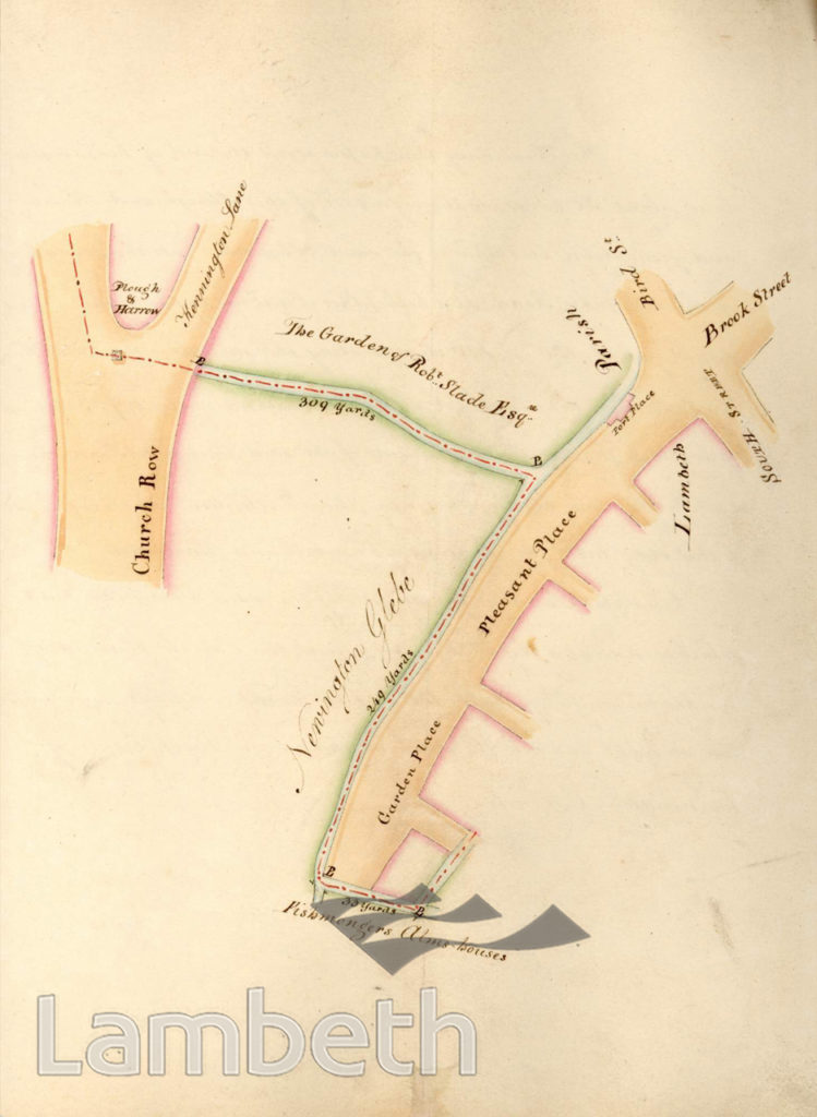 LAMBETH PARISH BOUNDARY KENNINGTON, TO KENNINGTON LANE