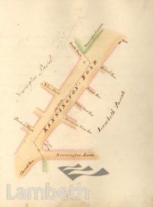LAMBETH PARISH BOUNDARY, KENNINGTON