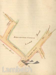 LAMBETH PARISH BOUNDARY, KENNINGTON COMMON