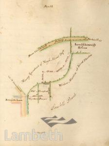 LAMBETH PARISH BOUNDARY, TOWARDS LOUGHBOROUGH JUNCTION