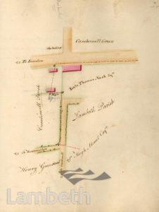 LAMBETH PARISH BOUNDARY, CAMBERWELL