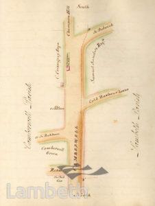 LAMBETH PARISH BOUNDARY, CAMBERWELL/ LOUGHBOROUGH JUNCTION