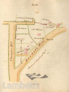 LAMBETH PARISH BOUNDARY, DENMARK HILL/ HERNE HILL