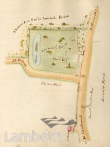 LAMBETH PARISH BOUNDARY, HERNE HILL