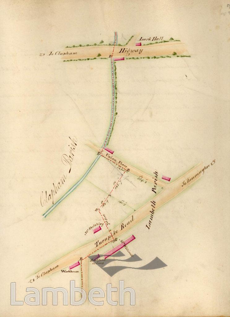 LAMBETH PARISH BOUNDARY, CLAPHAM