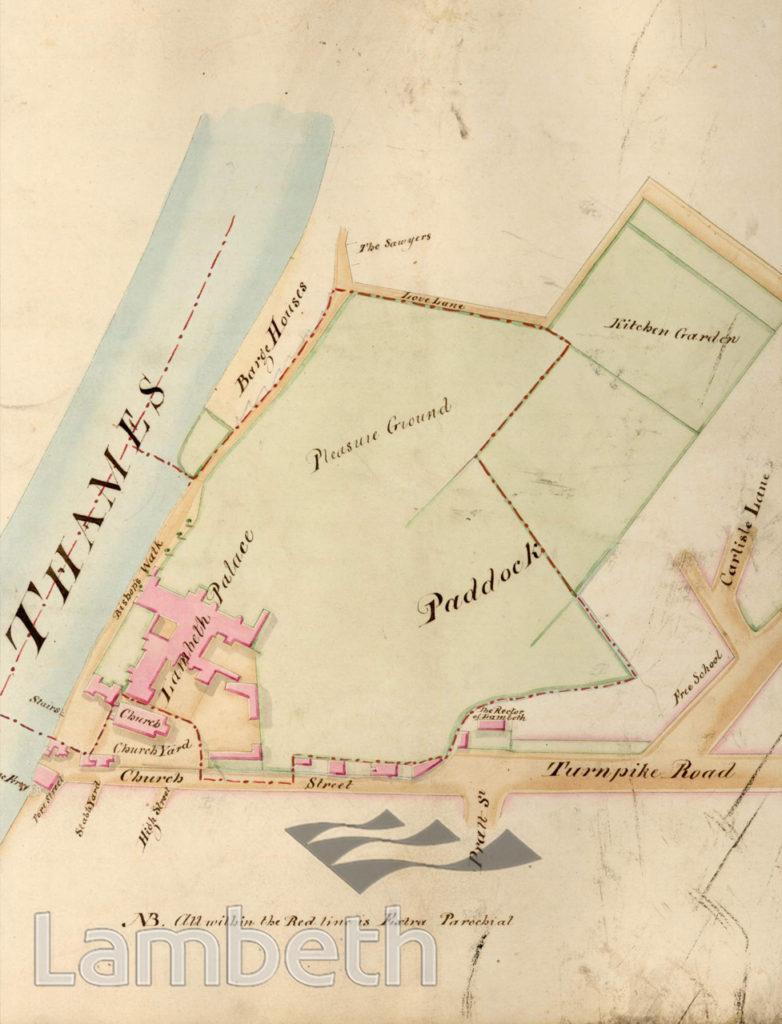 LAMBETH PARISH BOUNDARY, LAMBETH PALACE