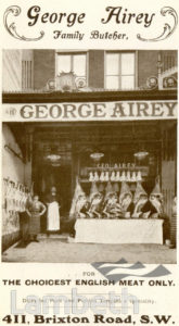 GEORGE AIREY, BRIXTON ROAD, BRIXTON: ADVERTISEMENT