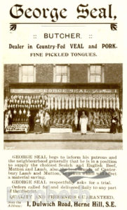 GEORGE SEAL, DULWICH ROAD, HERNE HILL: ADVERTISEMENT