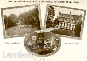 WARWICK COLLEGE FOR GIRLS, BRIXTON HILL