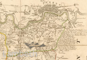 'BRIXTON HUNDRED', EXTRACT FROM MAP OF SURREY COUNTY