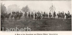 STREATHAM AND DISTRICT RIDERS ASSOC. MEET, STREATHAM COMMON