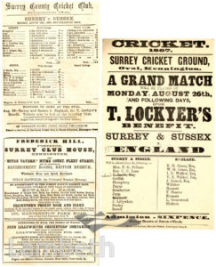 SURREY CRICKET GROUND, OVAL, KENNINGTON : HANDBILL