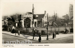NORWOOD CEMETERY, NORWOOD ROAD, WEST NORWOOD,