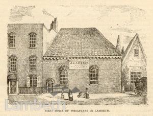 'FIRST HOME OF WESLEYANS', LAMBETH MARSH, WATERLOO