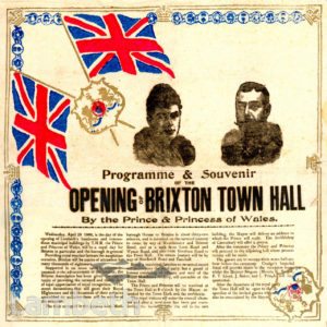 BRIXTON TOWN HALL, BRIXTON CENTRAL : PROGRAMME & SOUVENIR