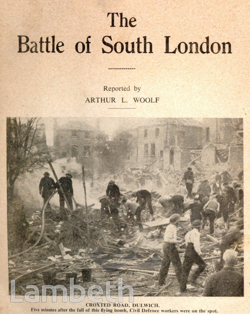 CROXTED ROAD, HERNE HILL : WORLD WAR II INCIDENT