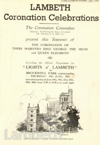 LAMBETH CORONATION CELEBRATIONS : PROGRAMME