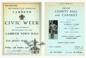 CIVIC WEEK, LAMBETH TOWN HALL, BRIXTON CENTRAL: PROGRAMME