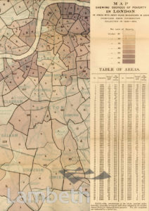 MAPS OF LONDON POVERTY, LAMBETH (AREA-WIDE) :MAP 1
