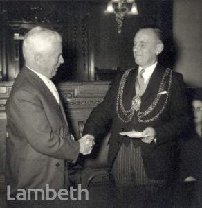 LAMBETH TOWN HALL, CENTRAL BRIXTON : CHAPLIN'S VISIT