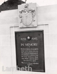 LAMBETH WAR MEMORIAL, LAMBETH CEMETERY, BLACKSHAW ROAD