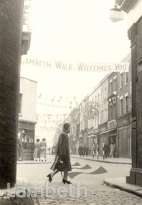 LAMBETH WALK, LAMBETH : CORONATION CELEBRATIONS