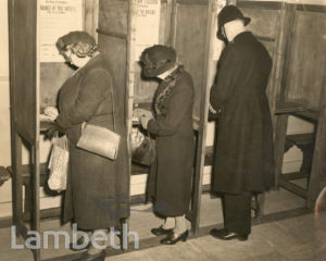 PARLIAMENTARY ELECTION, LAMBETH TOWN HALL, BRIXTON CENTRAL