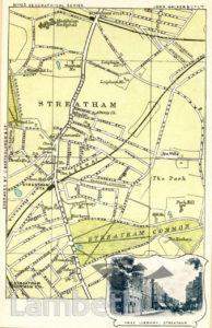 STREATHAM : POSTCARD MAPS