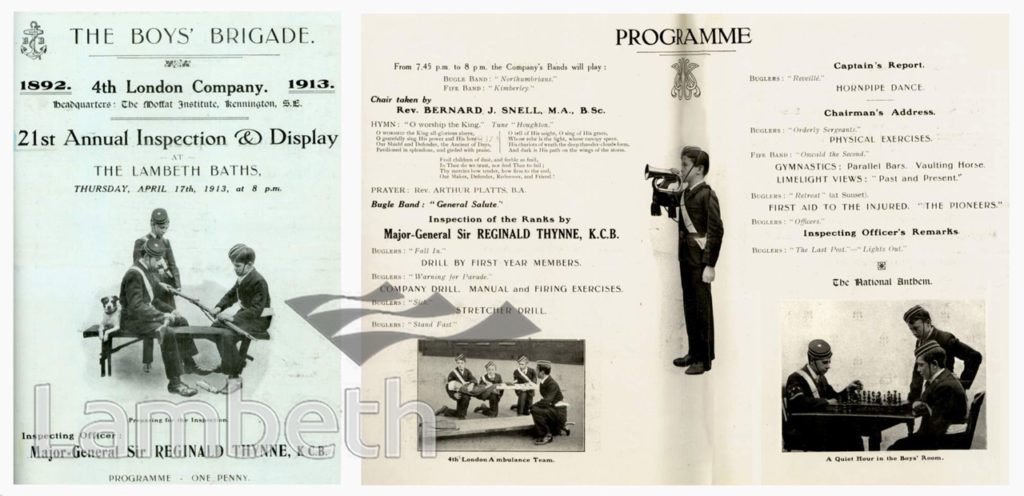 BOYS' BRIGADE, ANNUAL INSPECTION & DISPLAY : PROGRAMME