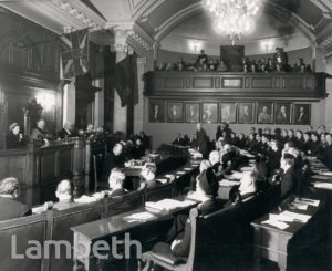 COUNCIL IN SESSION, LAMBETH TOWN HALL, BRIXTON CENTRAL