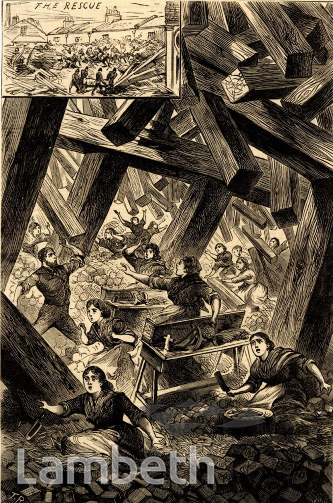 BUCKLEY'S WOOD YARD, VAUXHALL : FATAL INCIDENT