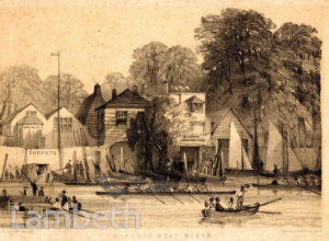 ROBERT'S BOATHOUSE, THAMES FORESHORE, LAMBETH