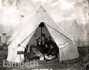 FIRST SURREY RIFLES : N.R.A.MEETINGS CAMPSITE