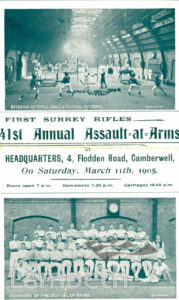 FIRST SURREY RIFLES : 41ST ANNUAL ASSAULT-AT-ARMS PROGRAMME