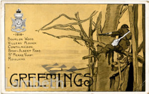 FIRST SURREY RIFLES : GREETING CARD