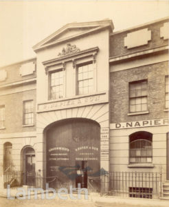 D. NAPIER & SON, VINE STREET, WATERLOO