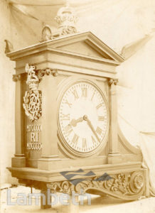 CLOCK, TATE LIBRARY, STREATHAM HIGH ROAD, STREATHAM CENTRAL