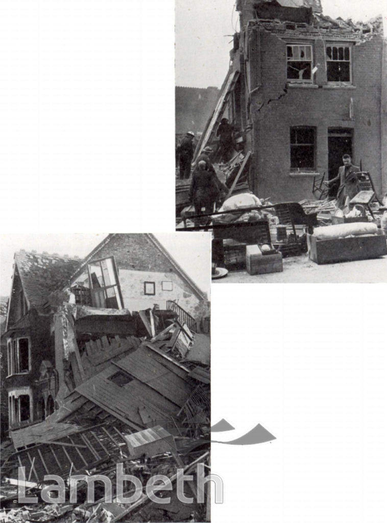 BOMB DAMAGED RESIDENCES, STREATHAM CENTRAL:  WORLD WAR II