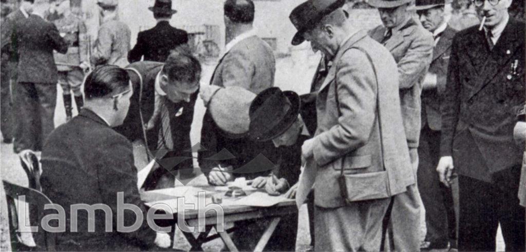 L.D.V.ENROLLING AT STREATHAM : WORLD WAR II