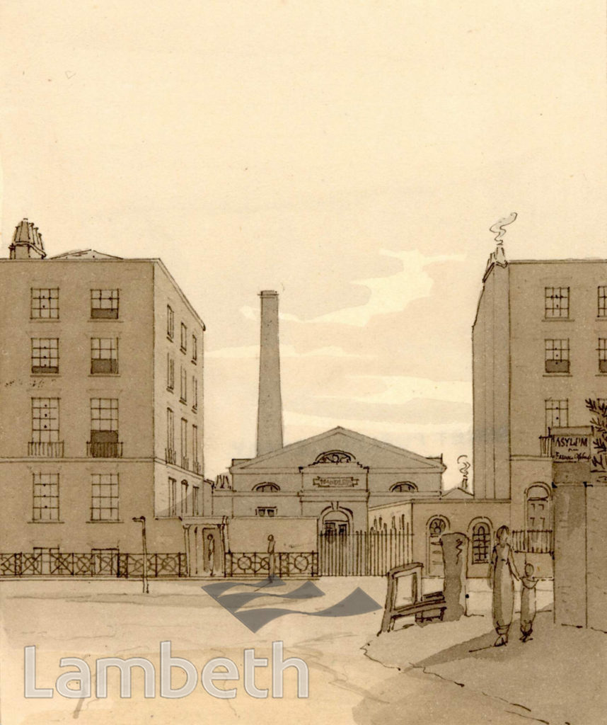 MAUDSLAY IRON WORKS, LAMBETH MARSH, WATERLOO.