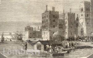 LAMBETH PIER, LAMBETH PALACE, LAMBETH