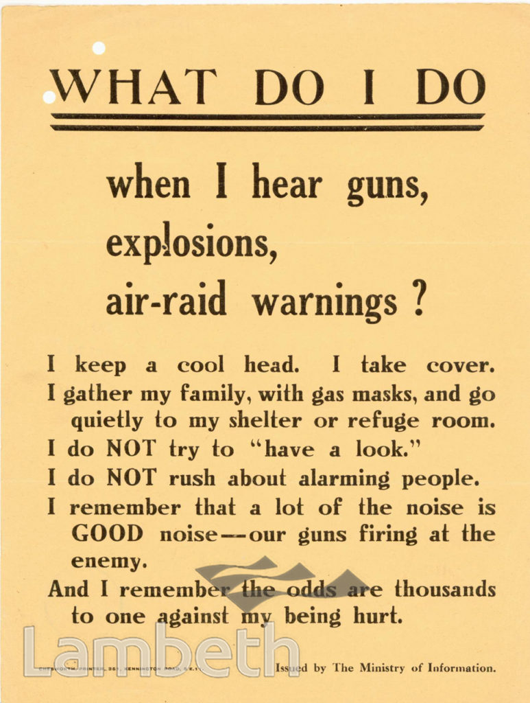 AIR-RAIDS WARNING, NOTICE: WORLD WAR II