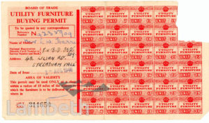CIVIL DEFENCE, FURNITURE BUYING PERMIT: WORLD WAR II