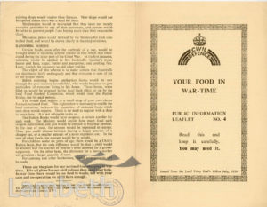 CIVIL DEFENCE, LEAFLET No. 4: WORLD WAR II