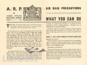 CIVIL DEFENCE LEAFLET, AIR RAID PRECAUTIONS: WORLD WAR II