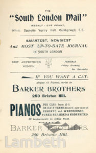 BARKER BROTHERS, BRIXTON HILL: ADVERTISEMENT