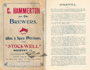 HAMMERTON & CO., BREWERY, STOCKWELL: ADVERTISEMENT