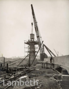 LAMBETH BRIDGE, LAMBETH: CONSTRUCTION